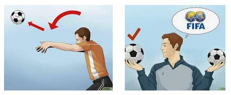 aturan lemparan kedalam pada sepakbola