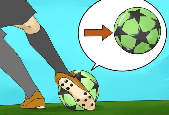 latihan menendang bola